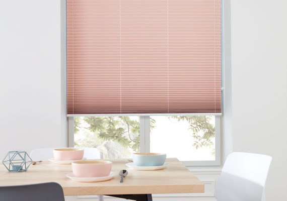 Pleated banner blinds