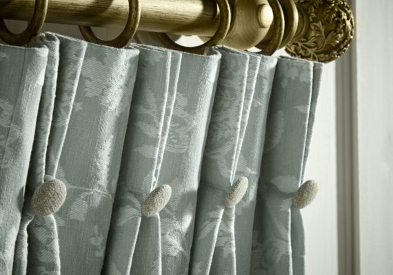 Triple Pleat Buttons Curtains